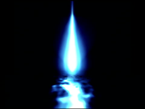 Blue Flame on Water