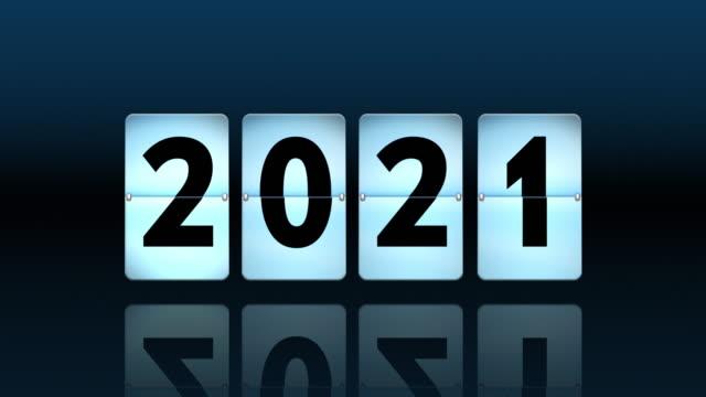 vidéos et rushes de compte à rebours de l'horloge à bascule bleue. en ce qui concerne 2021 - aspiration