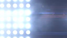 Blue floodlights flashing