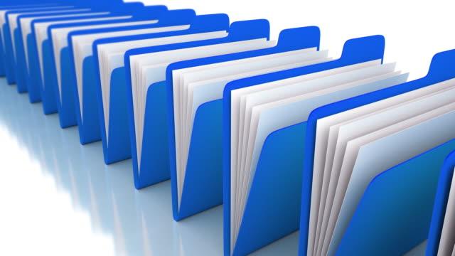 blue folders - arrangement stock videos & royalty-free footage