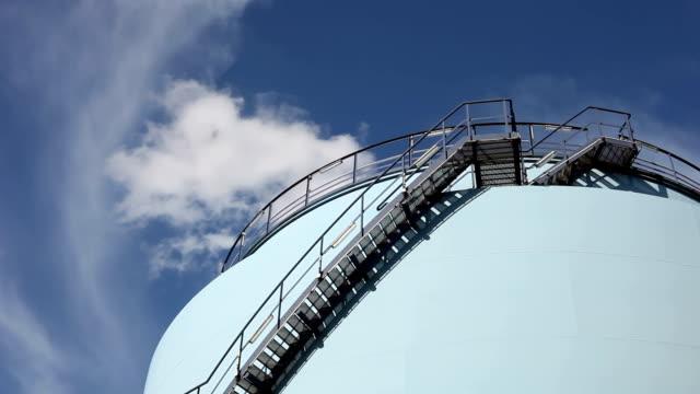 blue fuel storage tank - fuel storage tank stock videos and b-roll footage