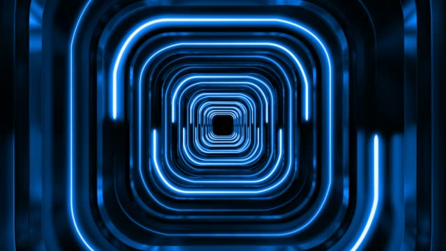 blue futuristic background tunnel - music video stock videos & royalty-free footage