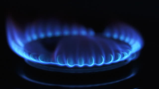 Blue Gas Flame Close-up (Loopable)