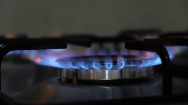 blue gas flame - burner stove top stock videos and b-roll footage