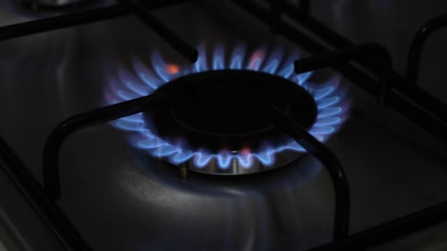 blue gas flame - on top of stock videos & royalty-free footage