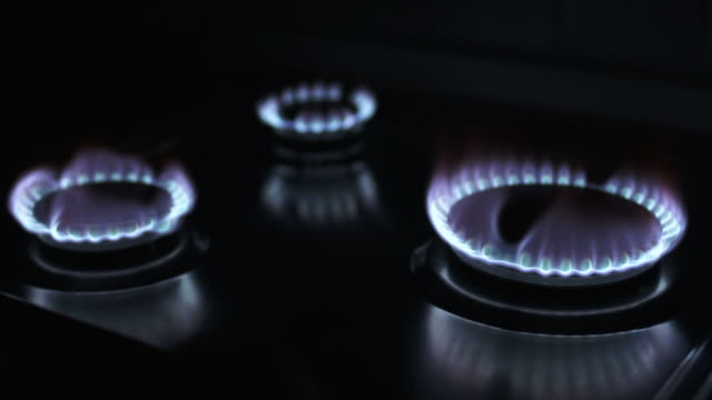 HD Blue Gas Flames Close-up (Loopable)