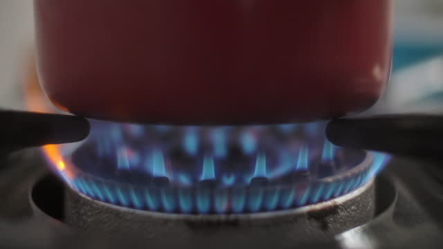 blue gas stove - gas stock videos & royalty-free footage