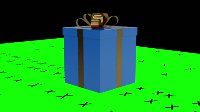 blue gift box - gift box stock videos & royalty-free footage