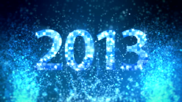 stockvideo's en b-roll-footage met blue glitter new year 2013 - 2013