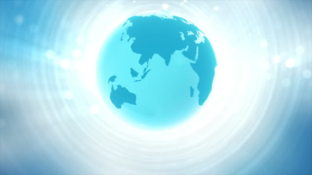 Blaue Welt Animation