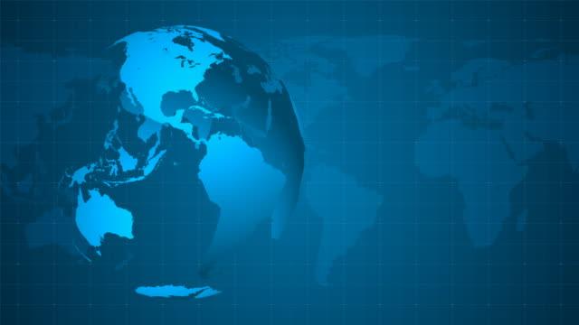 4K Blue Globe Background - Loopable