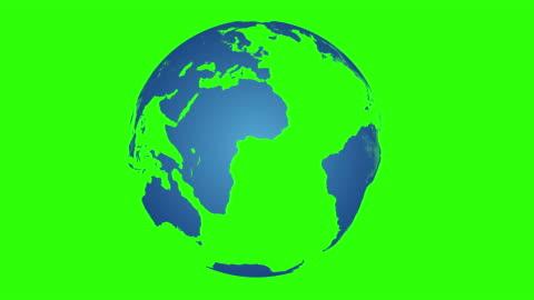 blue globe rotating on chroma key - spinning stock videos & royalty-free footage