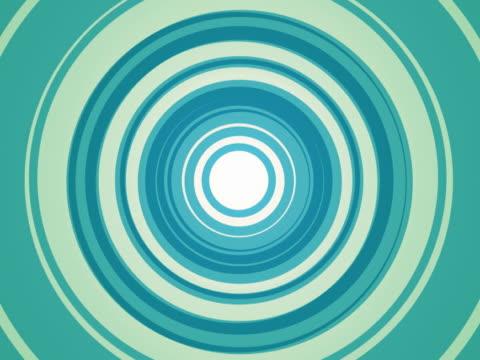 Blue green concentric design