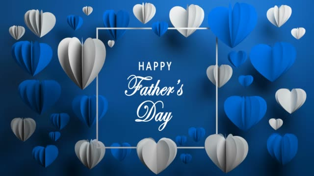 blue happy father's day background - father's day stock videos & royalty-free footage