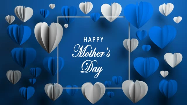 blue happy mother's day hearts - mother's day stock videos & royalty-free footage