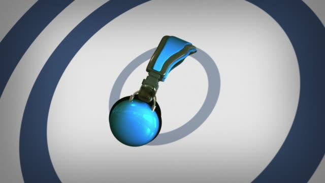 Blue Headphone And Retro Signal