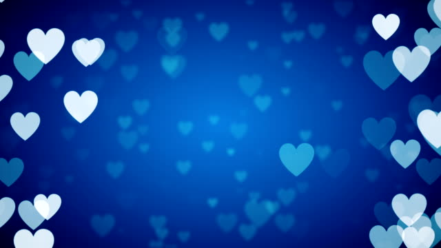 blue heart background (loopable) - turquoise coloured stock videos & royalty-free footage