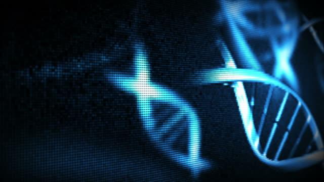 vídeos y material grabado en eventos de stock de blue helices - estructura molecular