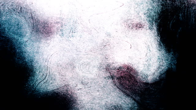 blue high contrasted blizzard grungy and dirty, animated, distressed and smudged stormy sky, clouds 4k video background with swirls and frame by frame motion feel with van gogh style - smudged stock videos & royalty-free footage