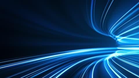 vídeos y material grabado en eventos de stock de azul de alta velocidad rayas de fondo - abstracto, transferencia de datos, ancho de banda - loopable - abstracto