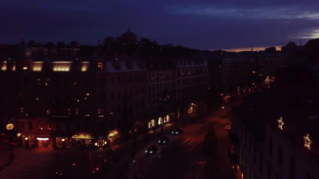 Blue hour city