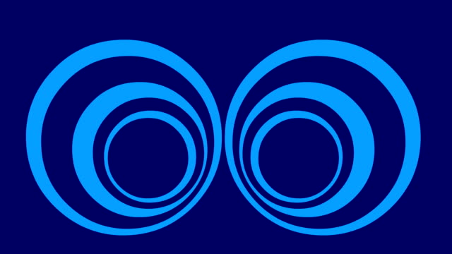 blue hypnotic animated cartoon background - hypnosis stock videos & royalty-free footage