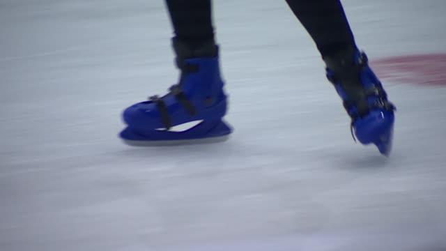 blue ice skates - ice rink stock videos & royalty-free footage