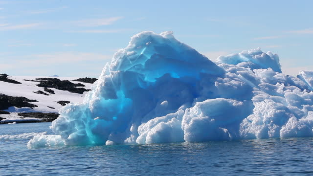 Blue Iceberg, backlit