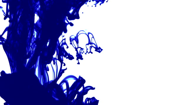 blue ink dissolving in water - writing instrument stock videos & royalty-free footage