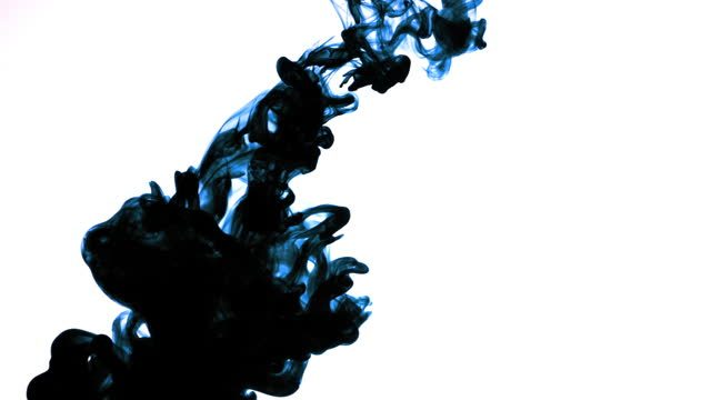 blue ink in water - film composite stock videos & royalty-free footage