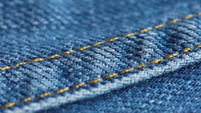 4K Blue Jeans Texture Close up