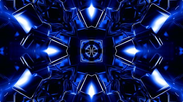 blue kaleidoscope loop - cube stock videos & royalty-free footage