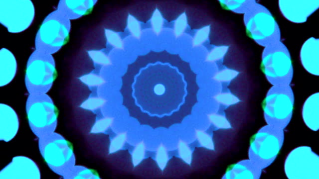 blue kaleidoskop-muster - psychedelische musik stock-videos und b-roll-filmmaterial