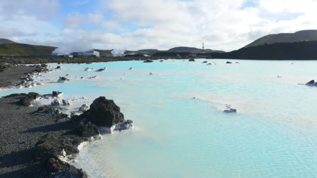 blue lagoon in iceland - lagoon stock videos & royalty-free footage