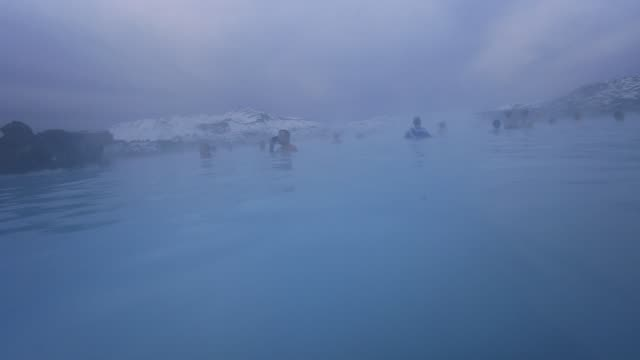 blue lagoon, reykjanes peninsular. - thermal pool stock videos & royalty-free footage