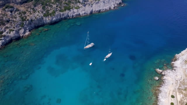 blue lagoon - greece stock videos & royalty-free footage