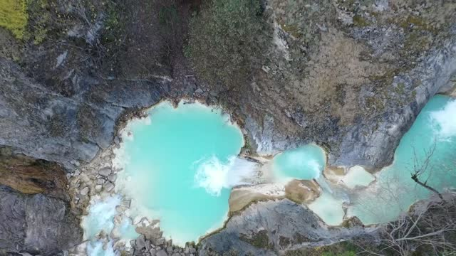 blue lake in turkey's black sea province of giresun draws the attention of tourists during the times of coronavirus. located in the dereli district,... - waterfall stock videos & royalty-free footage