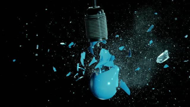 SLO MO blue light bulb explosion