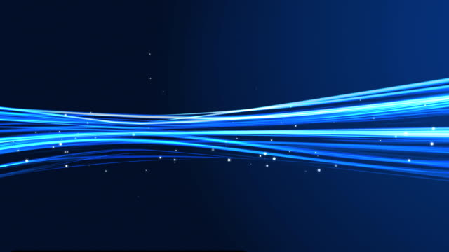 HD Blue light streaks abstract background animation (Loop)