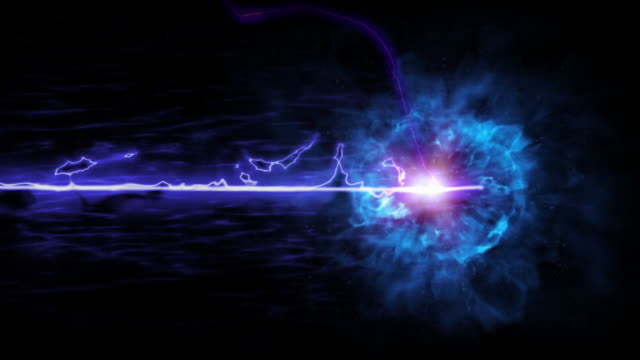 blue lightning on a black background - outline stock videos & royalty-free footage