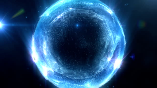 blue liquid energy ball - nucleus stock videos & royalty-free footage