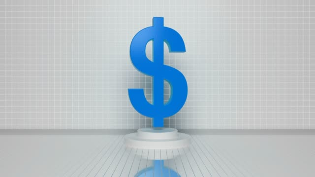 blue loop dollar symbol video - currency symbol stock videos & royalty-free footage