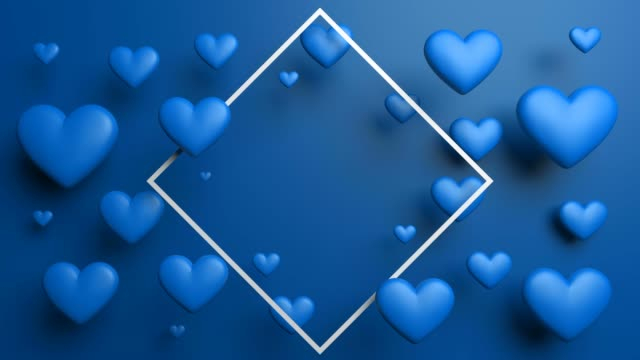 blue looped hearts frame background - poster template stock videos and b-roll footage