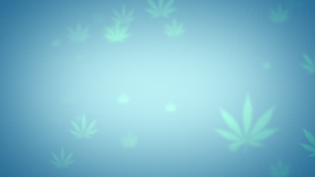 Blue looping cannabis background animation