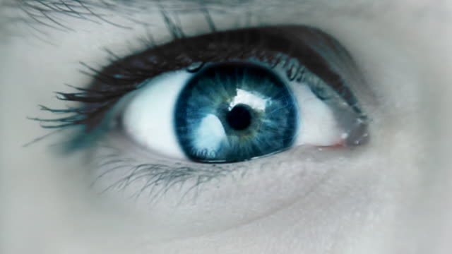 blue magical eye - blue eyes stock videos and b-roll footage