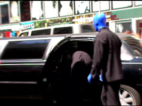 Blue Man Group arrives at the Introduction of 'Swatch Blue' by Blue Man Group at Swatch Times Square Store in New York New York on August 17 2006