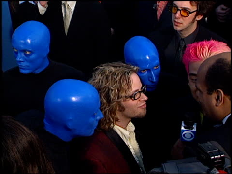 Blue Man Group at the 2001 Grammy Awards at Staples in Los Angeles California on February 21 2001