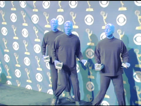 Blue Man Group at the 2005 Emmy Awards press room at the Shrine Auditorium in Los Angeles California on September 19 2005