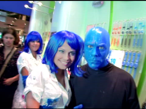 Blue Man Group at the Introduction of 'Swatch Blue' by Blue Man Group at Swatch Times Square Store in New York New York on August 17 2006