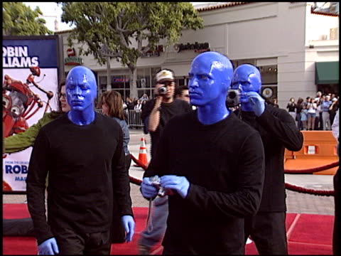 Blue Man Group at the 'Robots' Premiere on March 6 2005